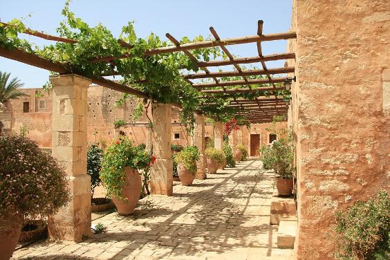Mediterraans terras voor Mediterrane tuin
