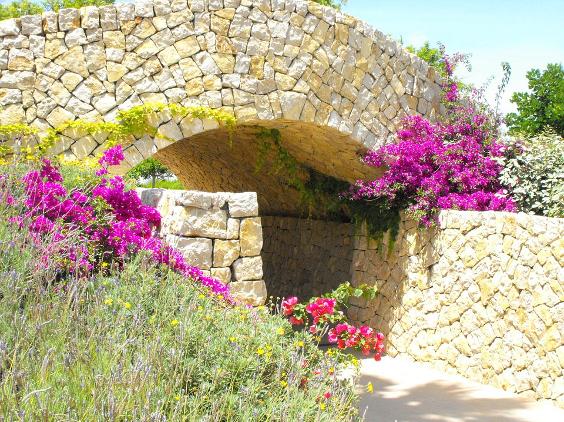 Mediterrane tuinmuur
