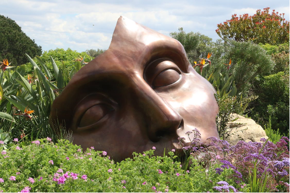 kunst in kleine tuin
